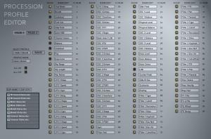 Procession Profile Edit